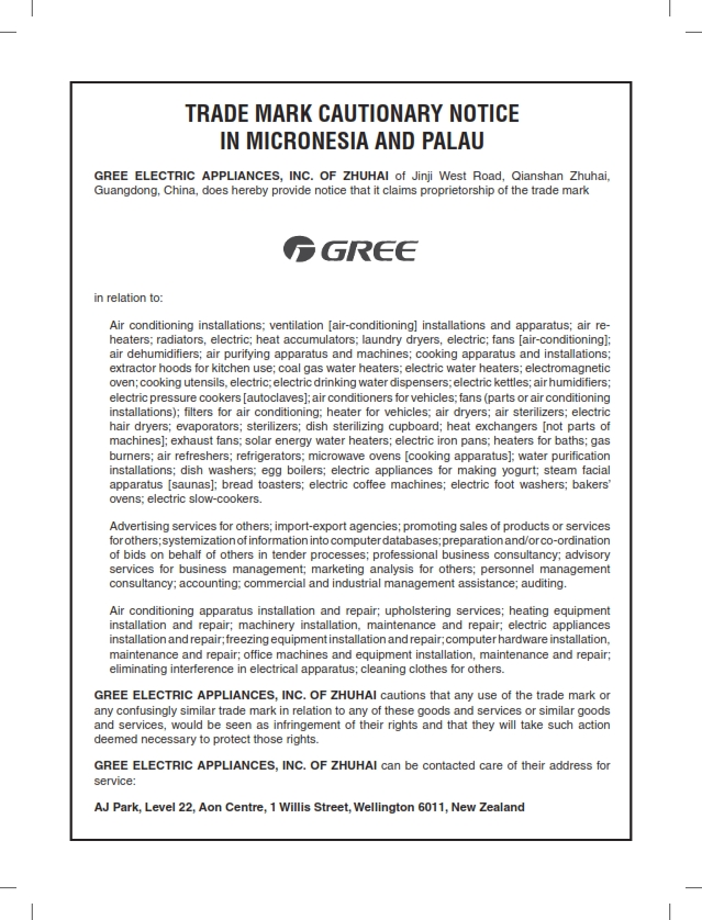 Cautionary Notice GREE in Micronesia and Palau 001