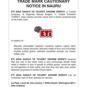 Cautionary notice in Nauru Aug20