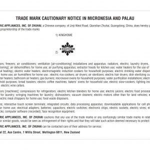 Cautionary Notice Micronesia and Palau KINGHOME ref 883883 6