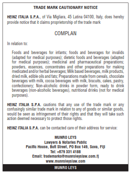 Trade Mark Cautionary Notice 001