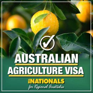 Australian Agricultural visa poster