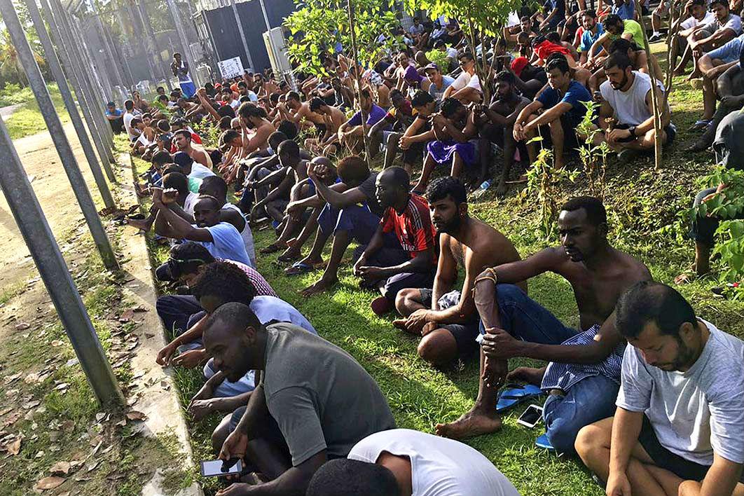 PNG Asylum seekers Manus